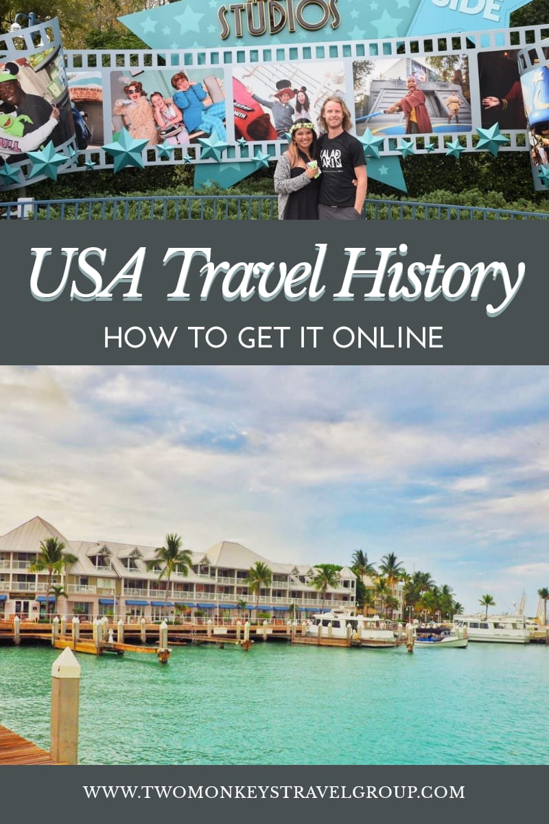 How to Get Your USA Travel History Online (Arrivals and Departures)