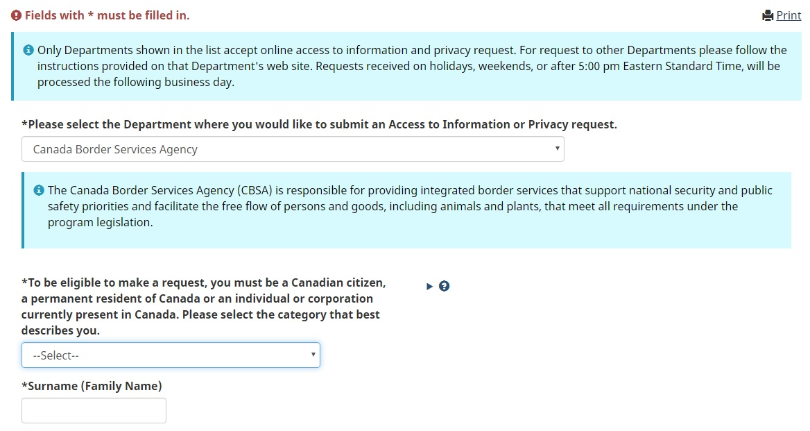 How to Get a Canada Travel History Report