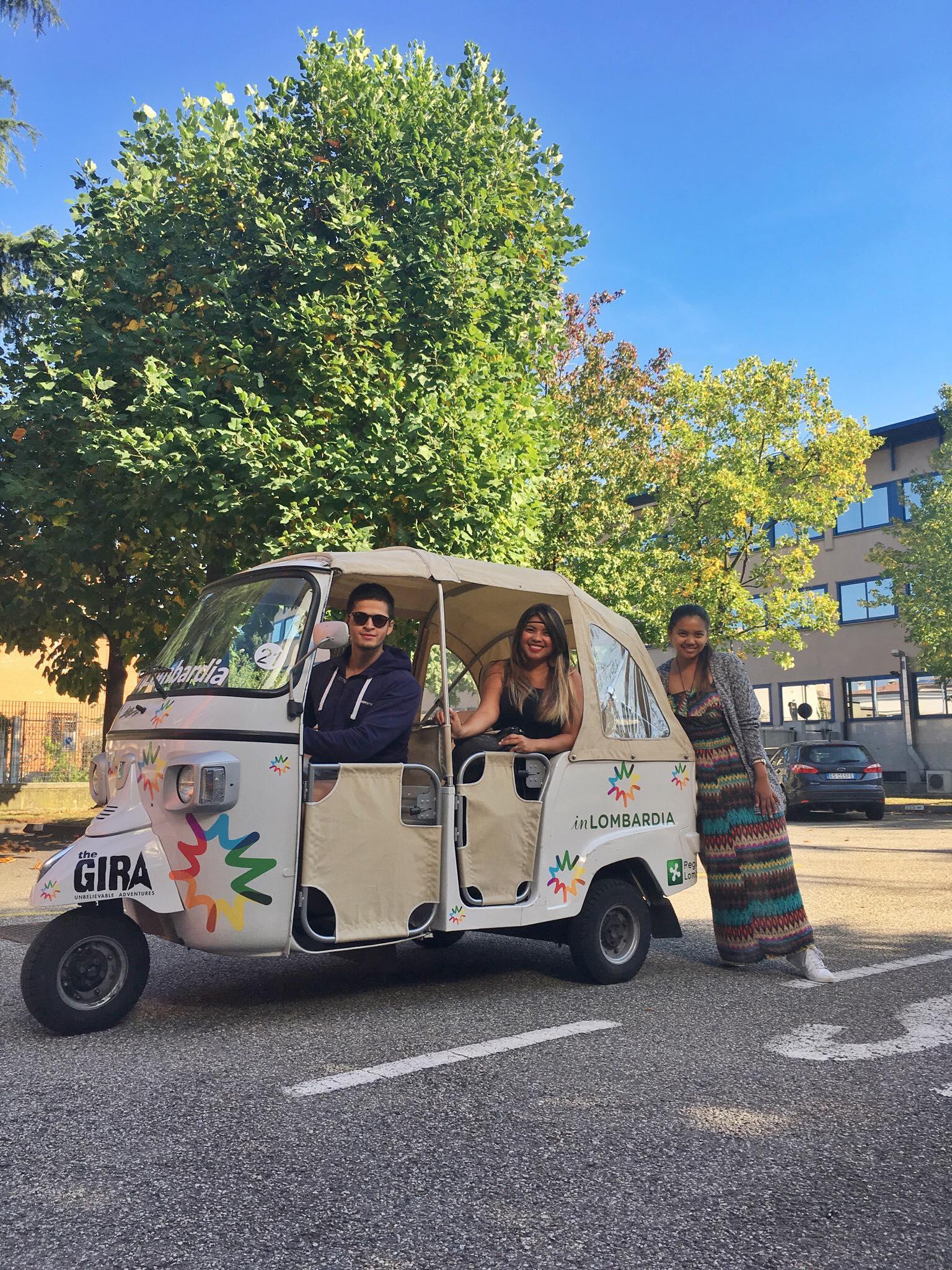 Roadtrip around Lombardy, Region in North Italy - Tuktuk in Lombar