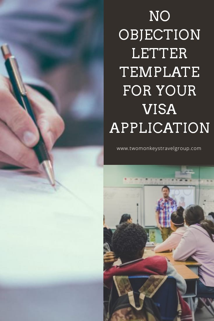 Sample Template No Objection Letter Template for your Visa Application