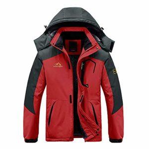 Wantdo Men's Anorak Ski Jacket Waterproof Windproof