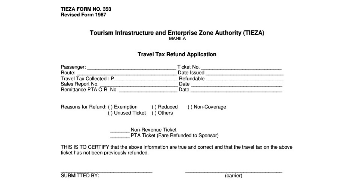 Guide on How to Get a Philippine Travel Tax Refund