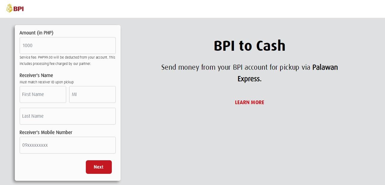 How to Send Money to BPI to Palawan Express (BPI to Cash)