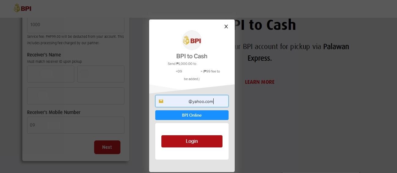 How to Send Money to Palawan Express through BPI (BPI to Cash)