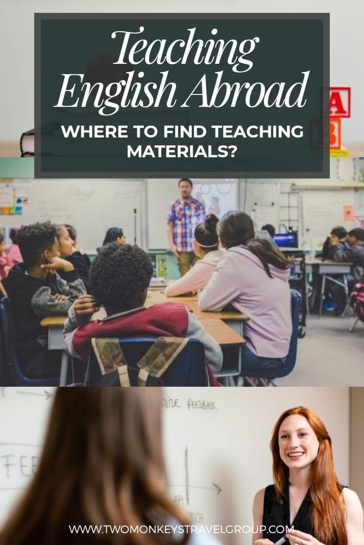 Teach English Abroad Where To Find Teaching Materials?