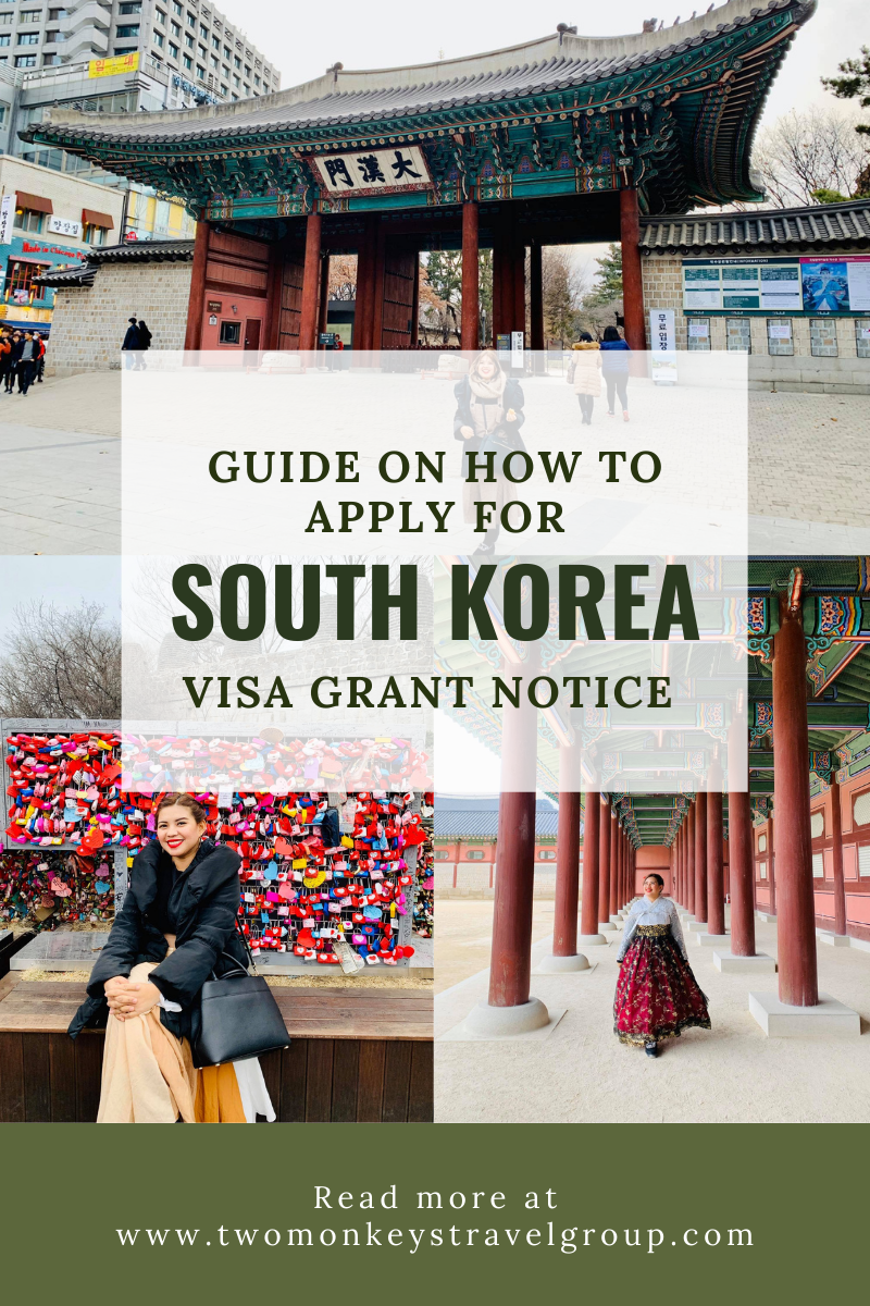 How to Apply For South Korea Visa Grant Notice for Filipinos