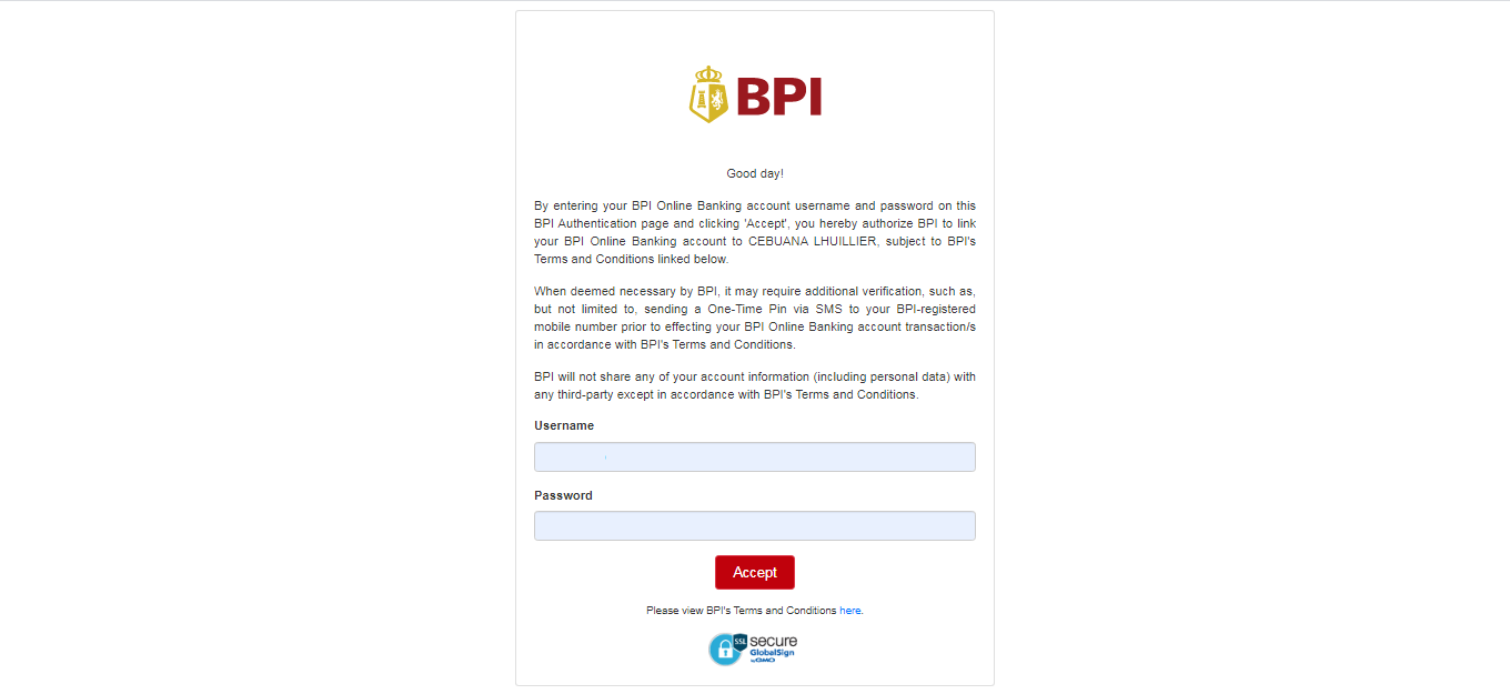 How to Send Money to Cebuana Lhuillier through BPI (BPI to Cash) 05