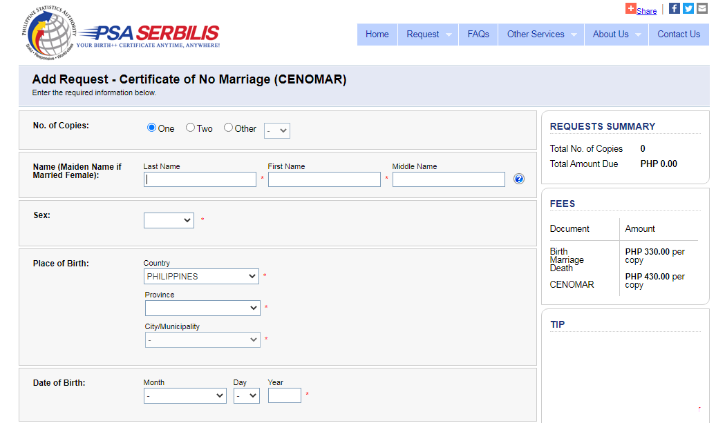 How to get a CENOMAR in the Philippines (CErtificate of NO MARriage) 02