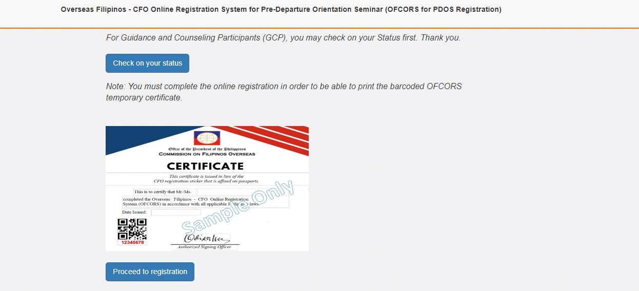 How to get a Certificate from CFO Online 04