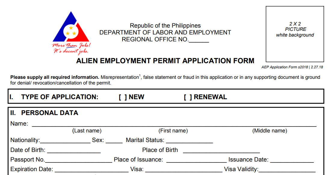 How Foreigners Can Work in the Philippines How to get an Alien Employment Permit and a Visa 02