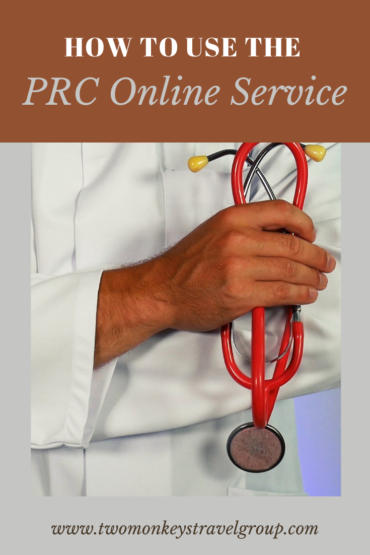 How to use the PRC Online Service (with Requirements and Payments Cost)