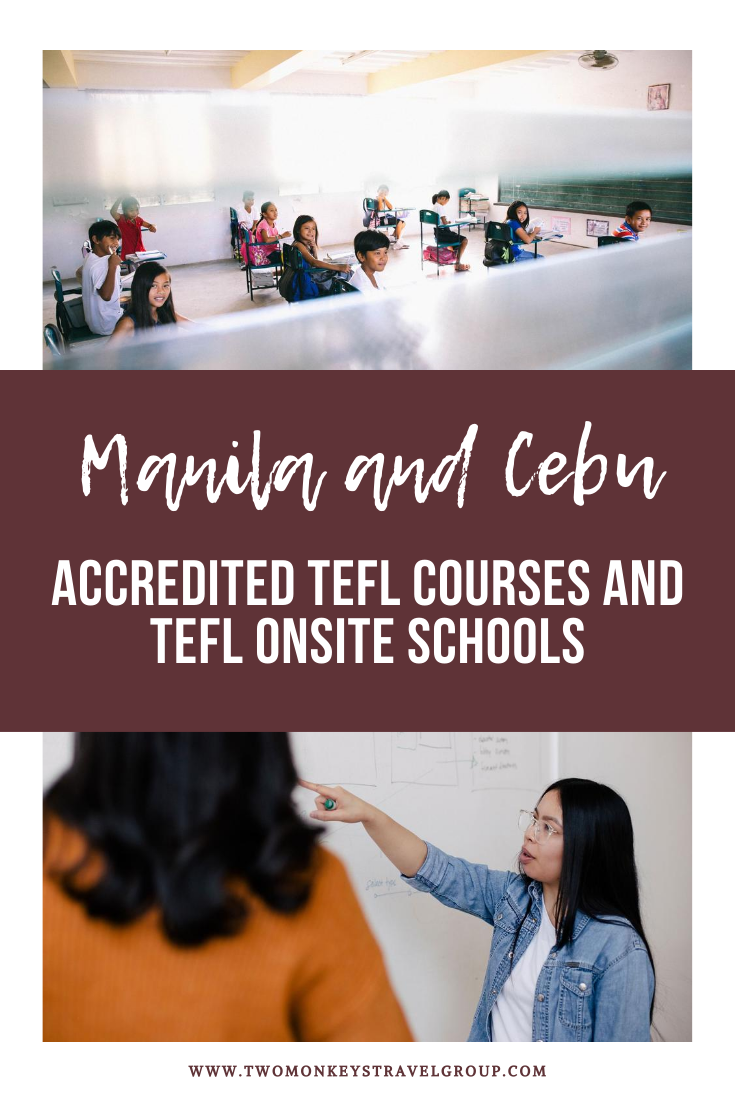 List of Accredited TEFL Courses and TEFL Onsite Schools in Manila and Cebu