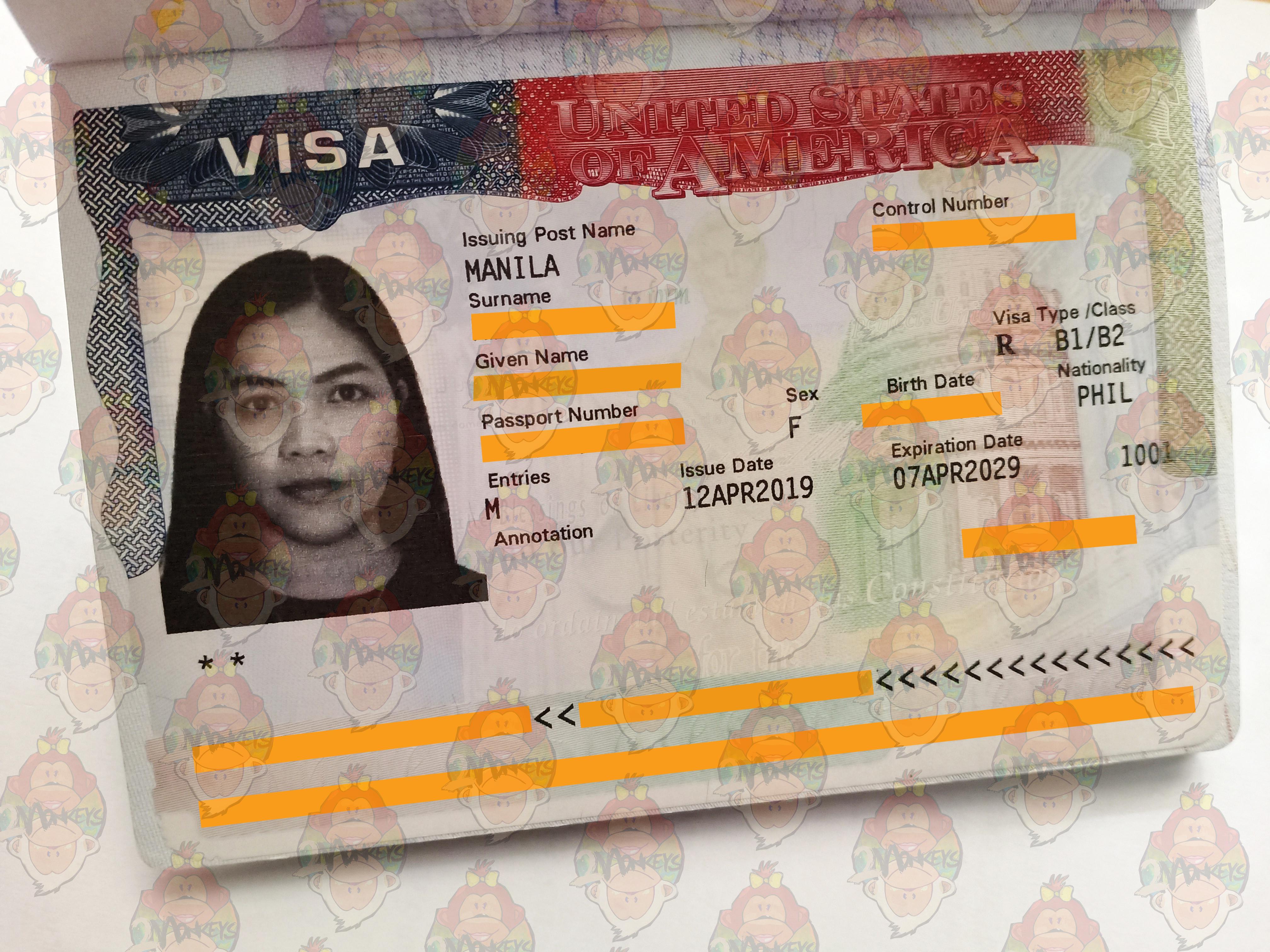 USA Visa Yvette