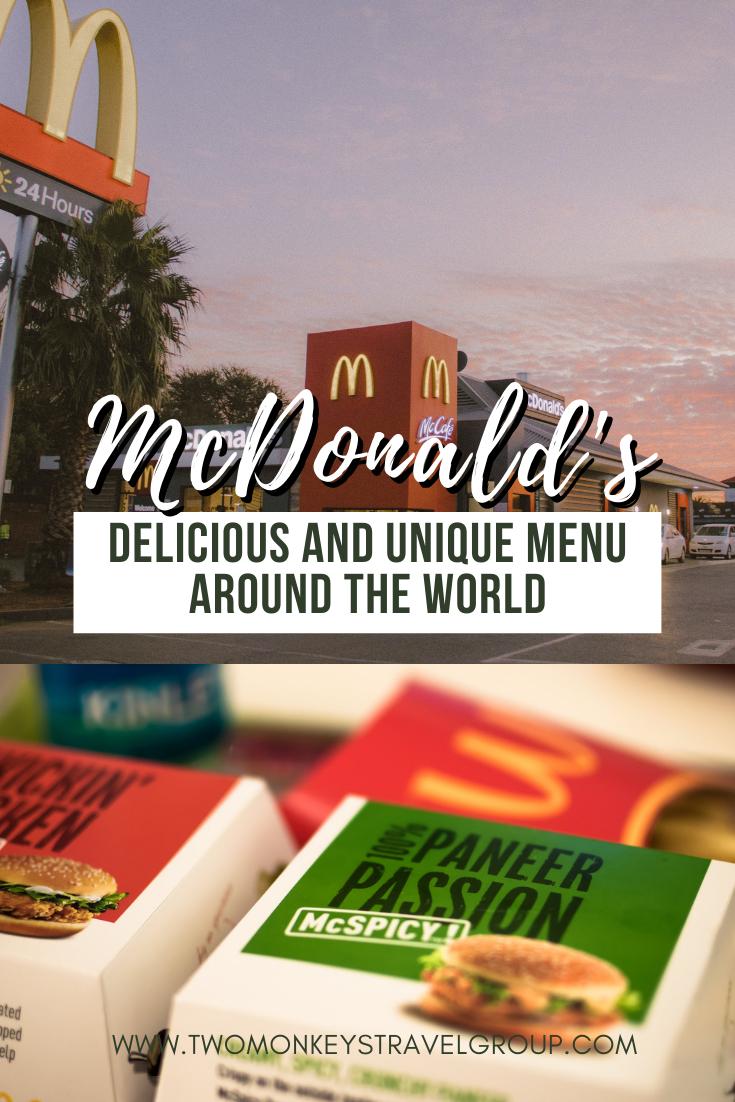 15 Delicious and Unique McDonald's Menu Around the World
