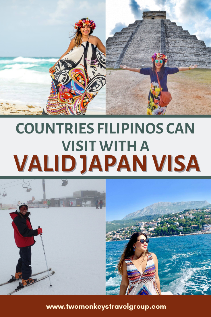 4 Countries Filipinos can Visit with a Valid Japan Visa
