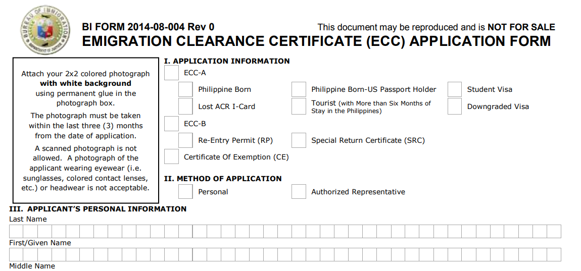 Emigration Clearance Certificate – For Foreigners with Visas and Permits Leaving the Philippines 01