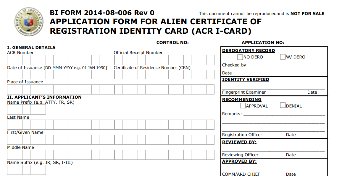How to get an ACR I Card in the Philippines Alien Certificate of Registration 01