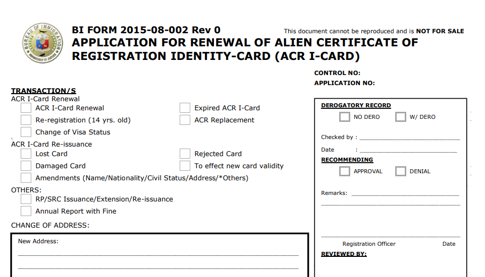 How to get an ACR I Card in the Philippines Alien Certificate of Registration 02