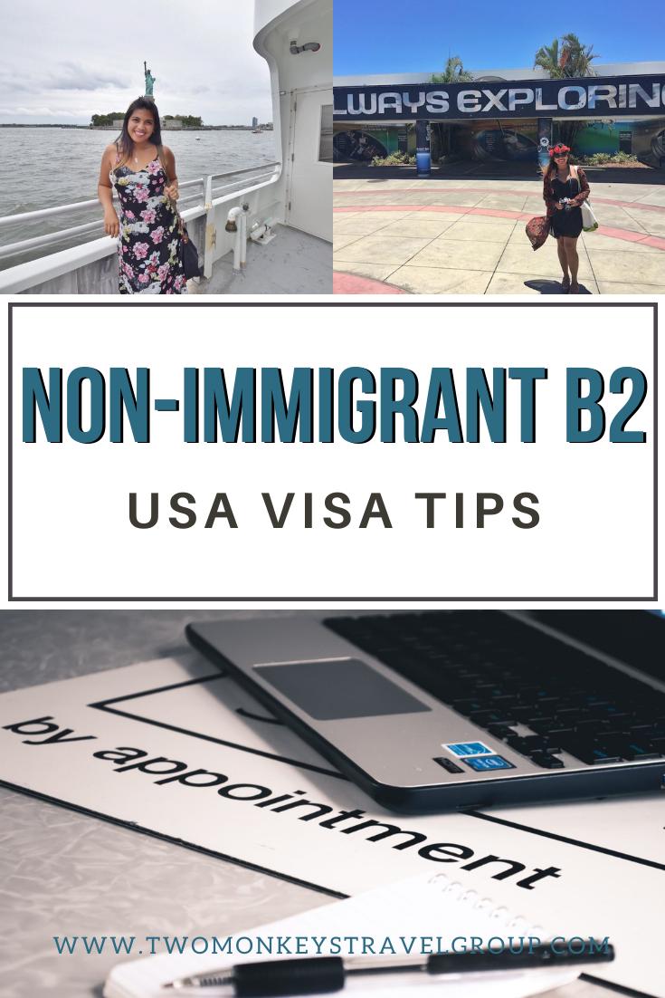 USA Visa Tips for Filipinos (Non-Immigrant B2 Visa)