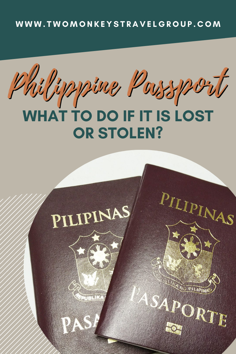 What To Do if Your Philippine Passport is Lost or Stolen