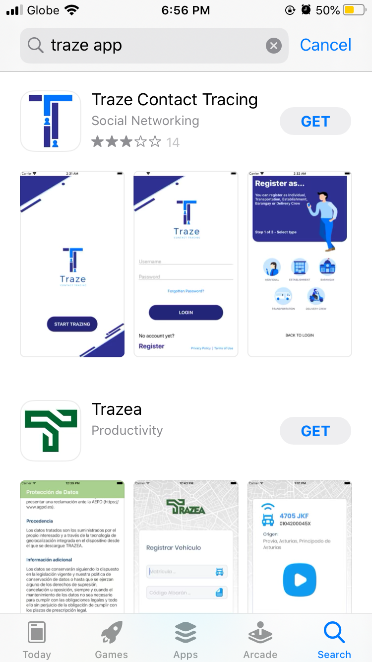Traze App Contract Tracing Application in the Philippines 02