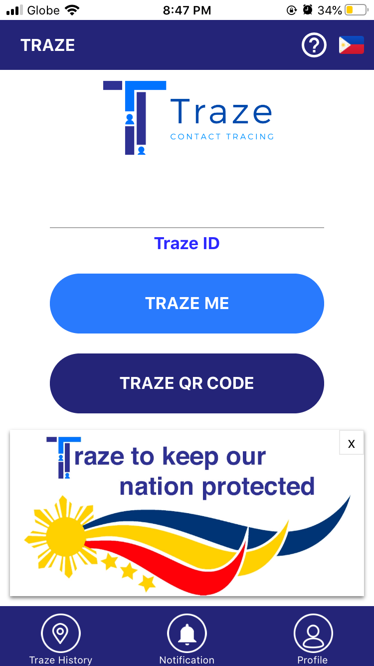 Traze App Contract Tracing Application in the Philippines 11