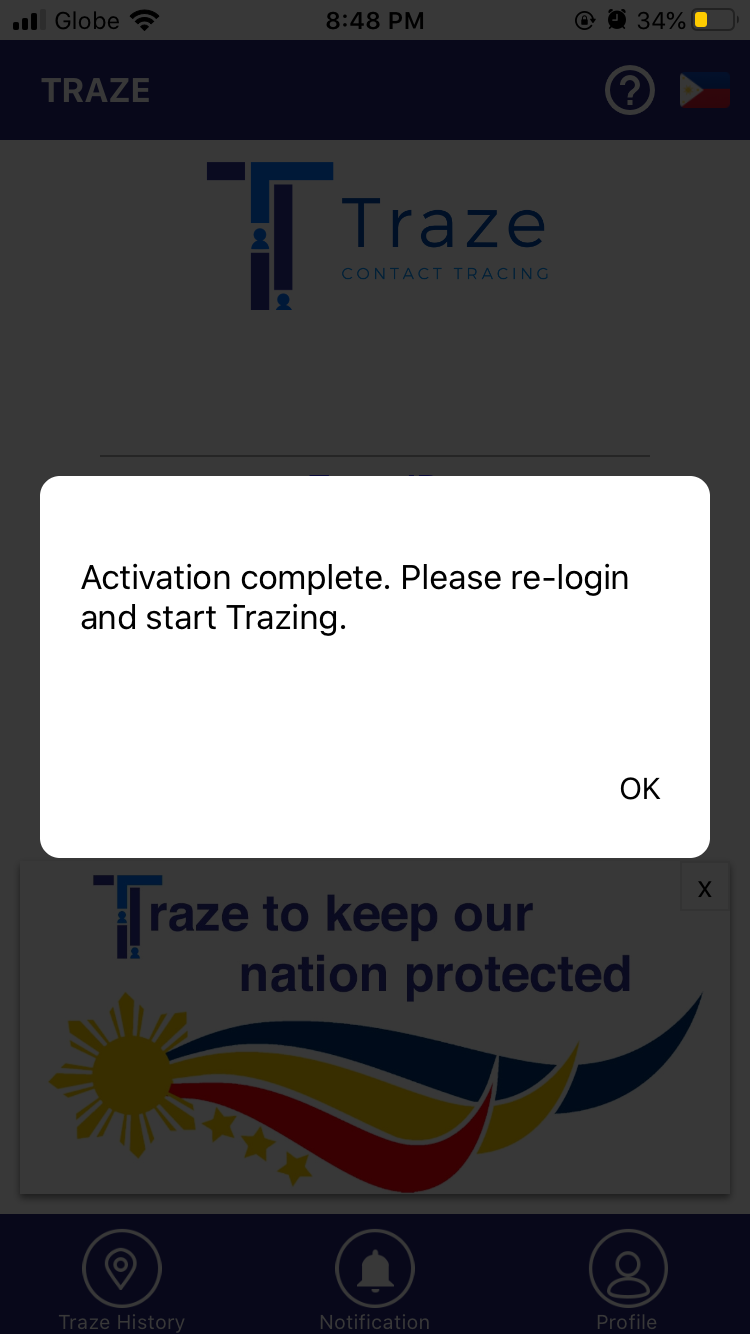 Traze App Contract Tracing Application in the Philippines 12