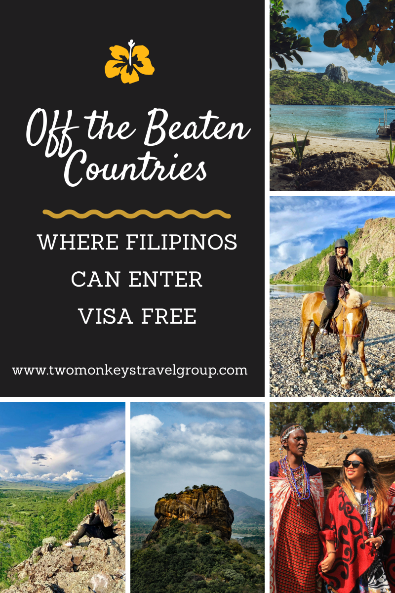 12 Off the Beaten Countries Where Filipinos Can Enter Visa Free