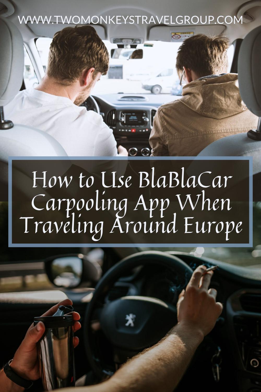 How to Use BlaBlaCar Carpooling App When Traveling Around Europe