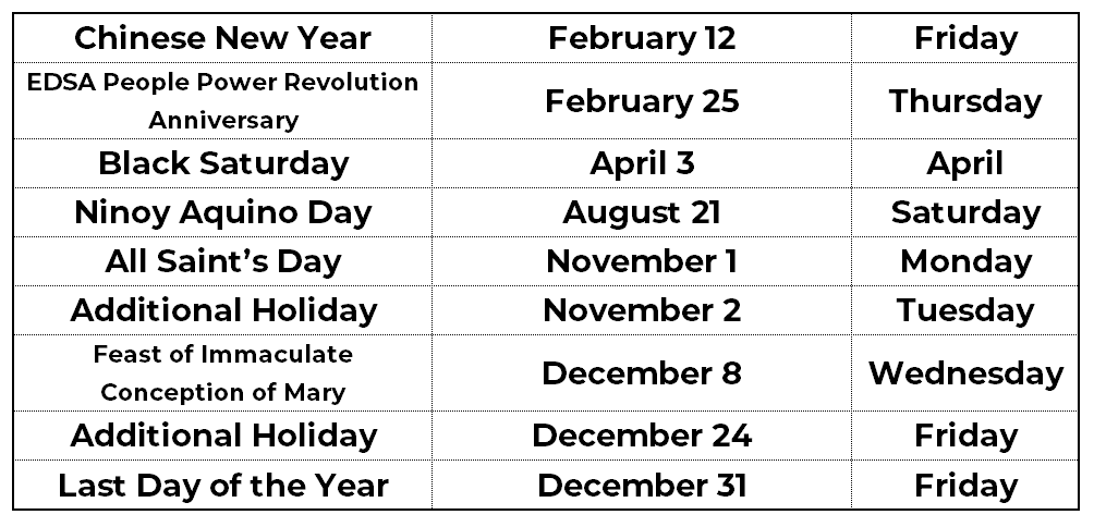 List of Philippines Holidays in 2021 03