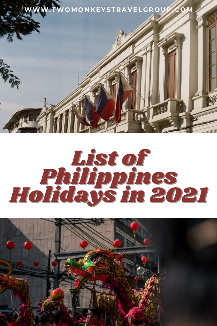 List of Philippines Holidays in 2021 [with Tips on How to Organize Your Vacation Leave Schedule]