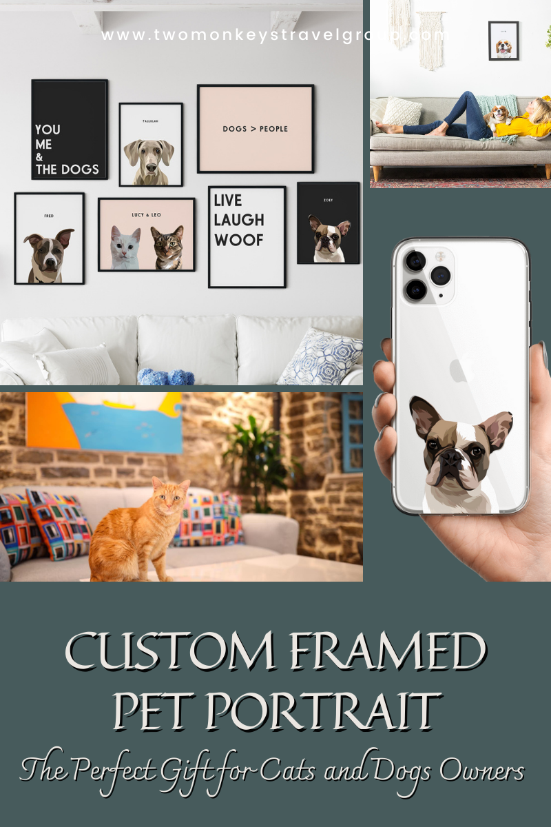 Custom aFramed Pet Portrait - The Perfect Gift for Cats and Dogs Owners