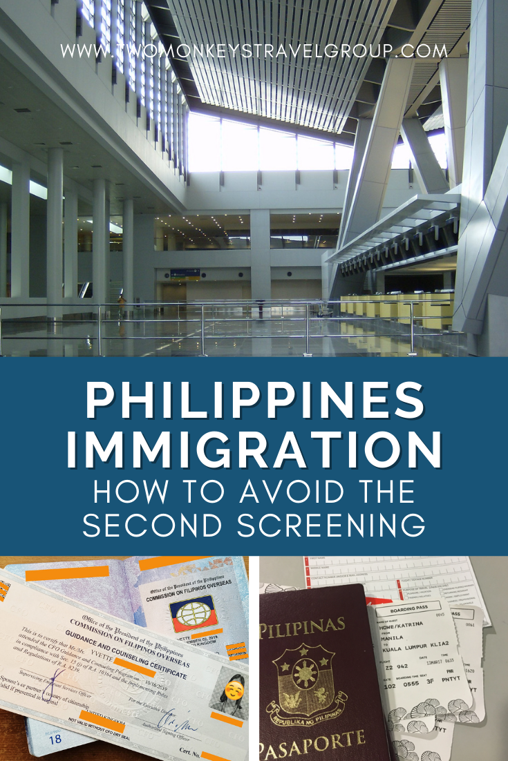 How to Avoid The Second Screening at the Philippines Immigration [Secondary Inspection]