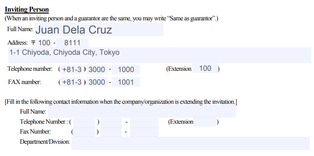 How to Make an Invitation Letter for Japan Visa Application 05