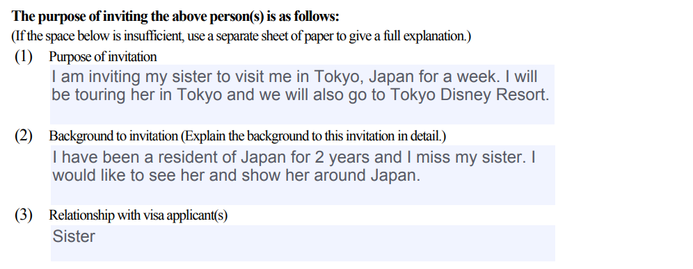 How to Make an Invitation Letter for Japan Visa Application 10