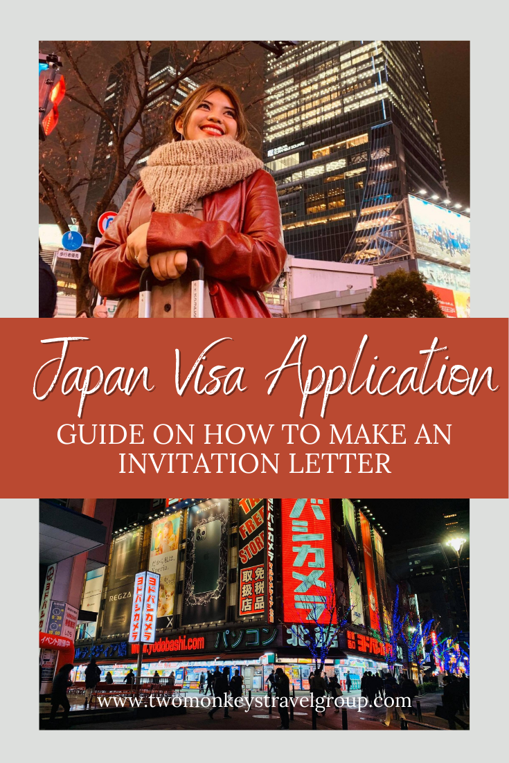 How to Make an Invitation Letter for Japan Visa Application