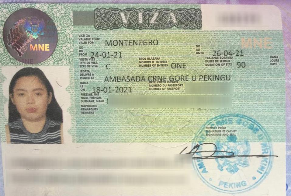 Montenegro C Visa