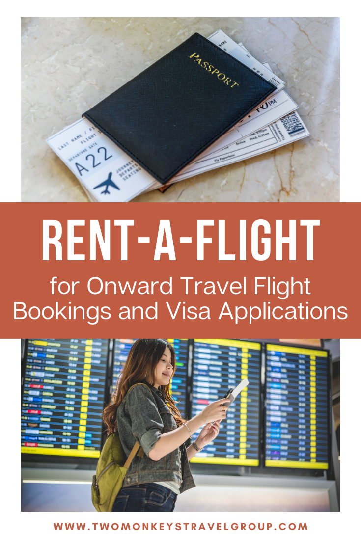 Rent a Flight for Onward Travel Flight Bookings and Visa Applications