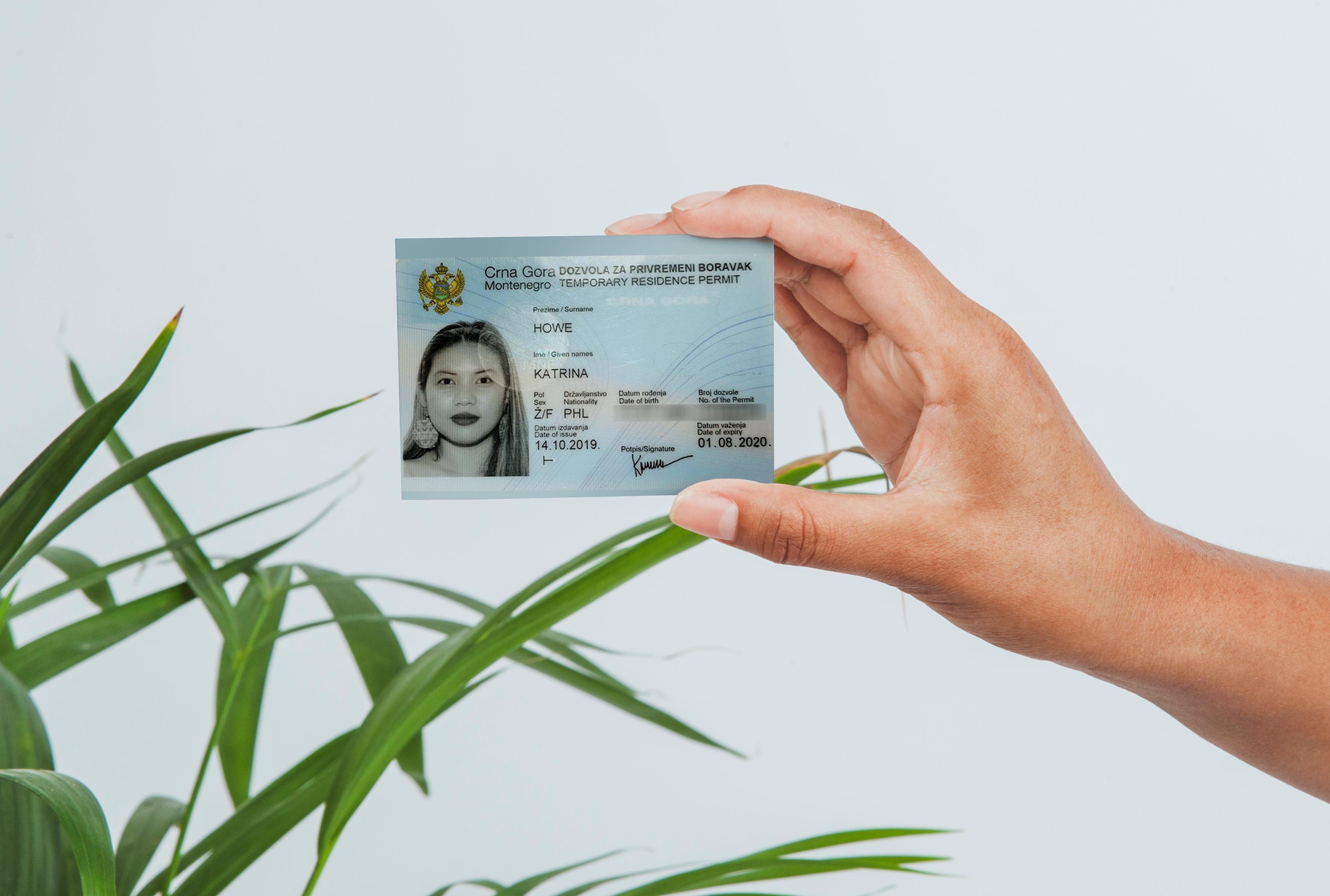 Montenegro residence permit