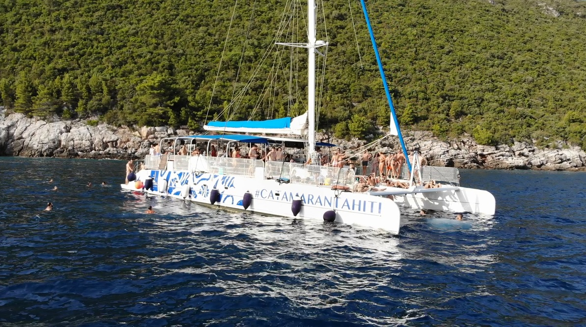My Birthday Party at Catamaran Tahiti The Largest Sailing Party Boat in Montenegro